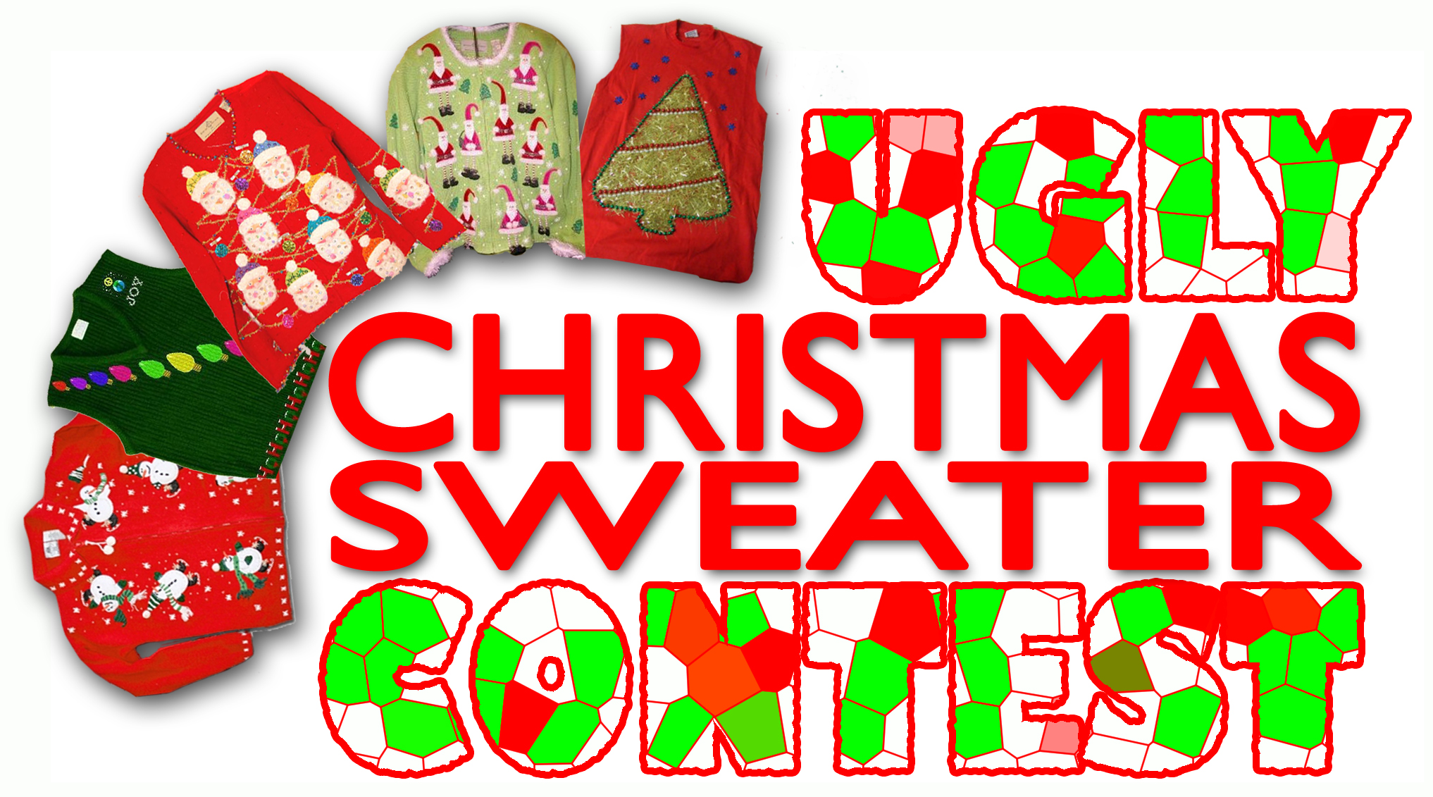 Ugly christmas sweater competition
